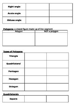 Polygon and Angle Reference Sheet