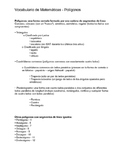 Polygone Classification Vocabulary in English and Spanish