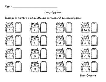 Polygones - Jeu d'association