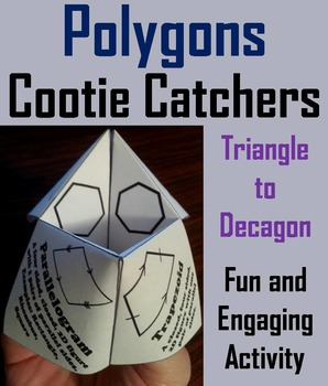 Polygons Practice Activity/ Foldable Game for 2nd, 3rd, 4th, 5th Grade