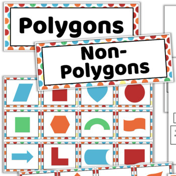 Classifying POLYGONS Activity and Graphic Organizers