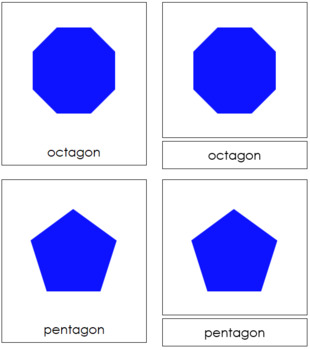 Polygons: 3-Part Cards