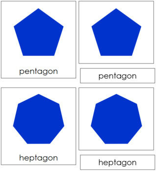 Polygons: 3-Part Cards (Complex Concepts)
