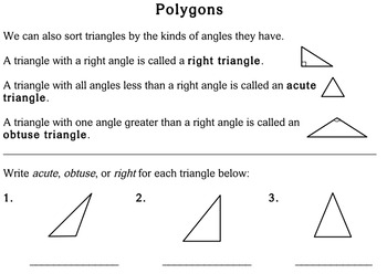 Polygons, 4th grade - worksheets - Individualized Math