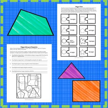 Polygons Activities and Math Games