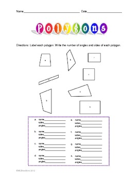 Polygons Activity Worksheet