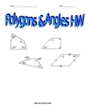 Polygons & Angle Sums HW