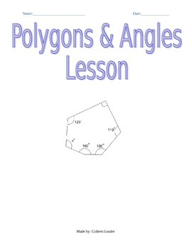 Polygons & Angles Lesson