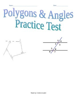 Polygons & Angles Practice Test