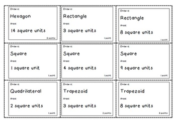 Polygons: Area & Perimeter Game