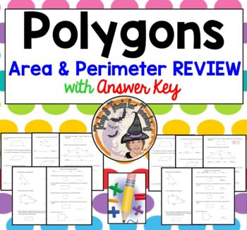 Polygons Area and Perimeter Geometry Review Practice Works