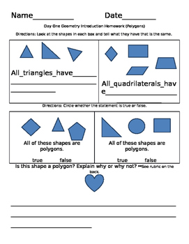 Polygons Assessment