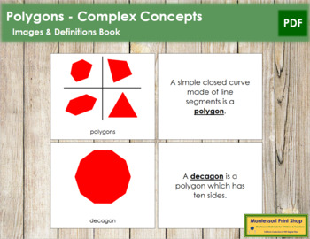 Polygons: Book (Complex Concepts) - Red