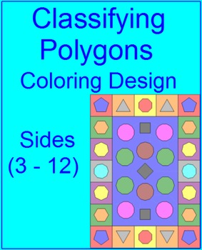 Polygons - Classifying Coloring Activity