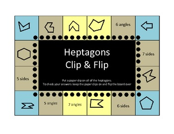 Polygons Clip and Flip boards (self-checking)