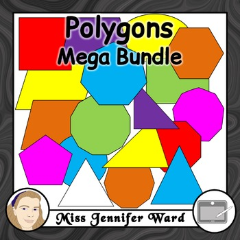 Polygons Clipart MEGA BUNDLE