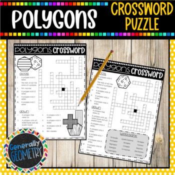 Polygons Crossword Puzzle; Geometry
