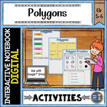 Polygons Digital Interactive Notebook Google Drive