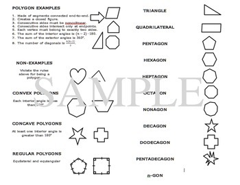 Geometry Interactive Notebook: Polygon # of Sides Foldable