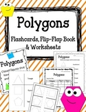 Polygons Foldable, Flip-Flap Book and Worksheets.  Math Ce