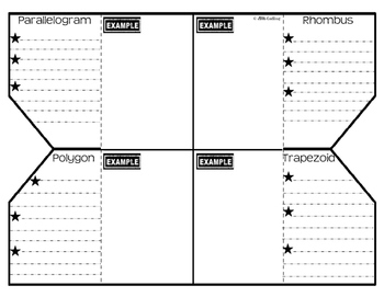 Polygons Foldable (Graphic Organizer)