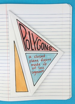 Polygons Interactive Notebook Foldable by Math Doodles