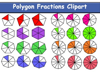 Polygons Fraction Clipart