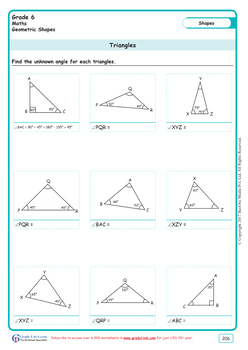 Polygons Grade 6 Maths from www.Grade1to6.com