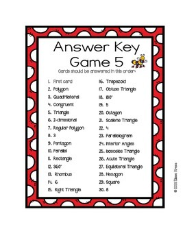 Geometry: Polygons I Have, Who Has Games {Set of 6}