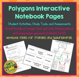 Polygons Interactive Notebook Pages, Student Activities, and Assessments
