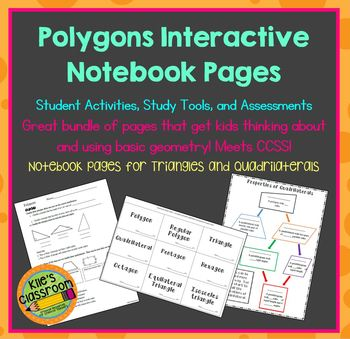Polygons Interactive Notebook Pages, Student Activities, a