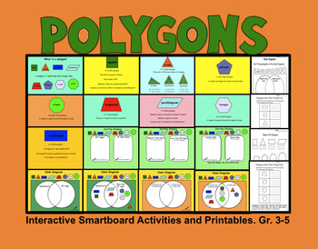 Polygons, Interactive Smartboard Activities and Printables