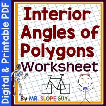 Polygons Interior Angles PDF Math Geometry Worksheet