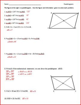 Polygons! Interior and Exterior Angles and Quadrilaterals (WS)