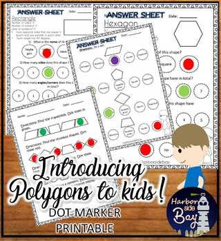 Polygons Introducing Polygons DOT MARKERS printable