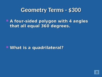 Polygons Review Jeopardy