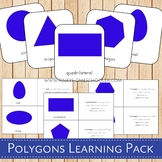 Polygons Montessori 3 Part Cards and Definitions