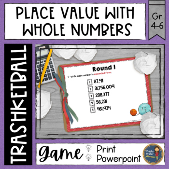 Polygons Lines and Angles Trashketball Math Game