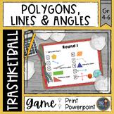 Polygons Lines and Angles Trashketball Math Game