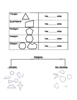 Polygons Test/ Notes /Handout /Review Shee