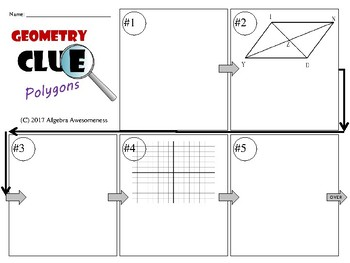Polygons - Parallelograms - Geometry Clue - Review Game