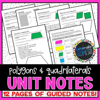 Polygons & Quadrilaterals Unit Notes