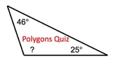 Polygons Quiz or Review Sheet