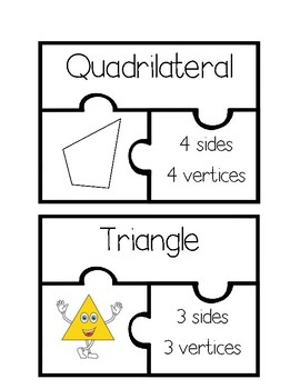 Polygons Task Card Puzzles