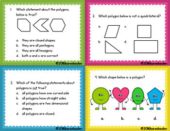 Polygons: Task Cards and Activities