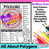 Polygons Word Search Activity