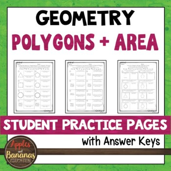 Polygons and Area - Student Practice Pages
