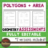Polygons and Area Tests - Geometry Editable Assessments