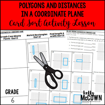 Polygons and Distances in a Coordinate Plane Card Sort Activity Lesson
