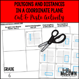 Polygons and Distances in a Coordinate Plane Cut & Paste Activity